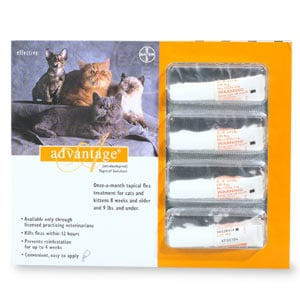 Advantage ORANGE-10-4 Advantage Flea & Tick Treatment For Cats
