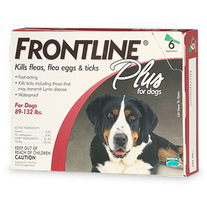 Frontline 89-132-6PK-PS Frontline Plus For Dogs And Puppies 89-132 Lb 6 Pk