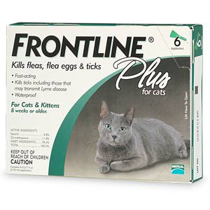 Frontline CAT-6PK-PS Frontline Plus For All Cats And Kittens 6 Month Supply