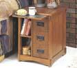 Powell 356 Mission Oak Magazine Cabinet Table