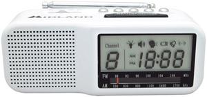 MIDLAND WR11 7-Channel Desktop Alarm Clock/Weather Alert Radio with AM/FM Radio