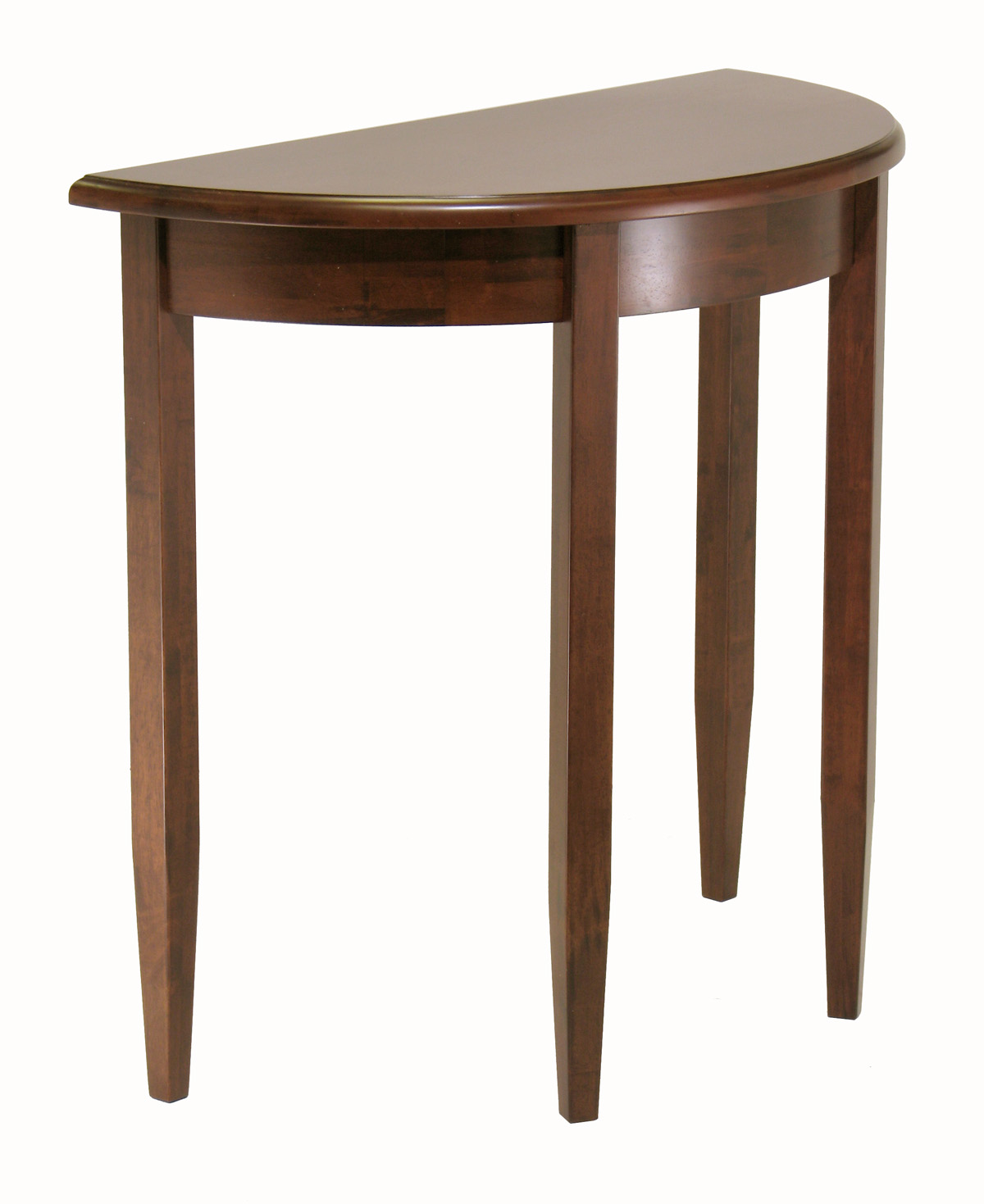 Winsome 94132 Concord Half Moon Table- Antique Walnut