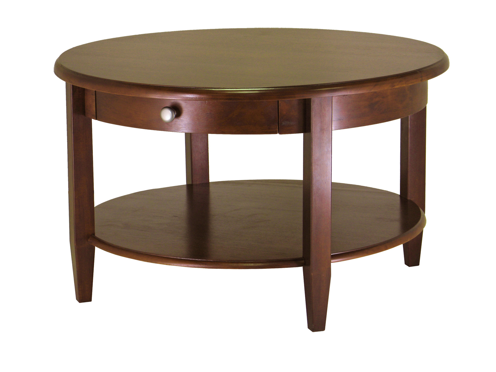 Winsome 94231 Concord Round Coffee Table Antique Walnut