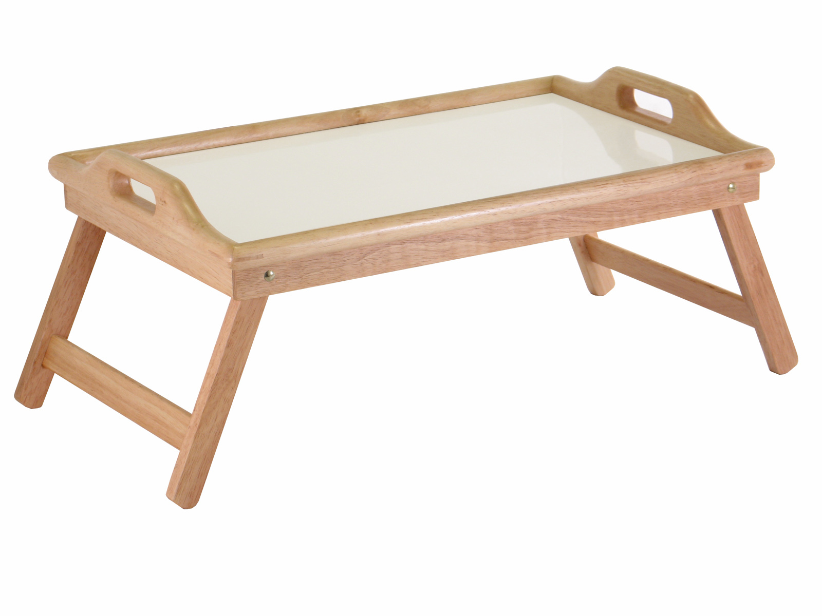 Winsome 98122 Bed Tray with Handle - Natural/White Top