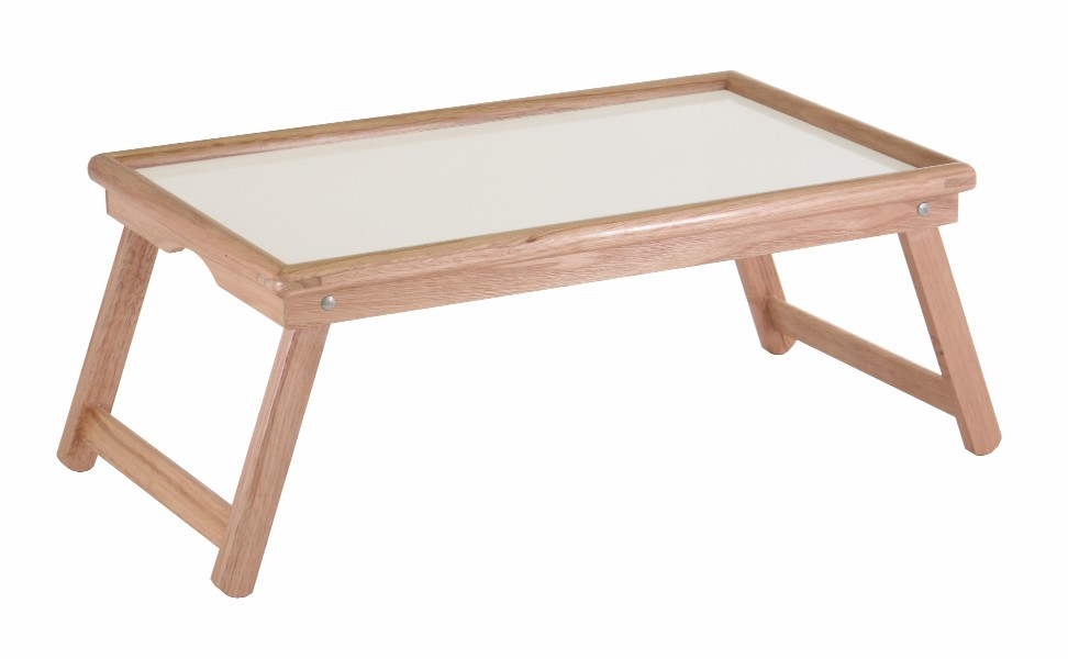 Winsome 98821 Bed Tray with Notch Handle - White/Natural