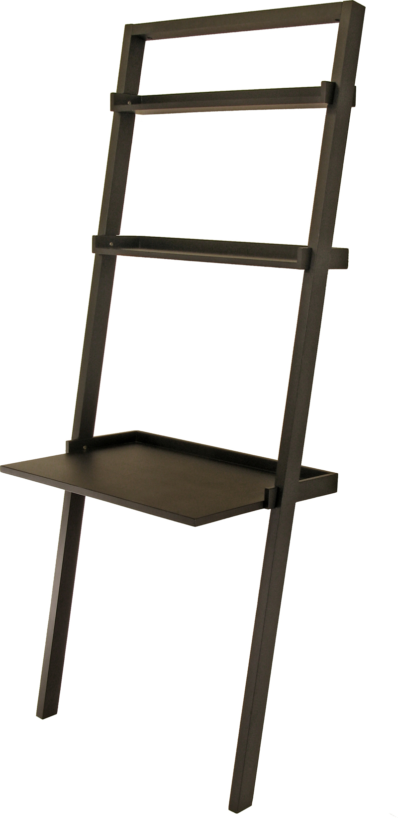 Winsome 29330 Black Leaning Desk with Shelf