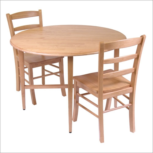 Winsome 34342 Basics Drop Leaf Kitchen Table with Ladder Back Chair Set