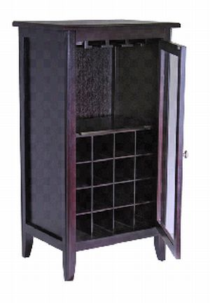 WINSOME TRADING-92522-Wine Cabinet w/Glass Door