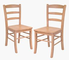 WINSOME TRADING  INC.-34232-Ladder Back Chair  RTA  2-pc set