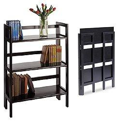 WINSOME TRADING-20896-Stackable/Folding Shelf 3-tier-Black