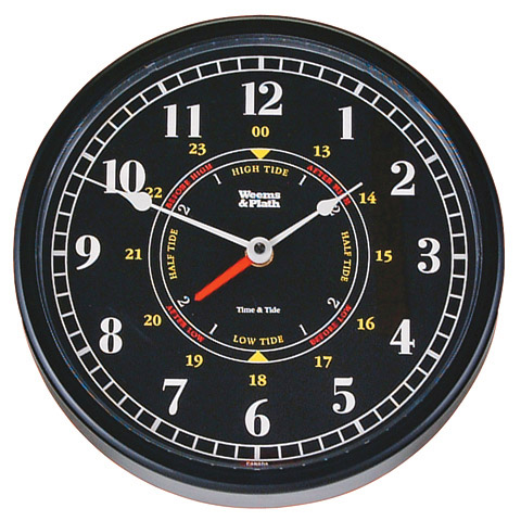 Weems and Plath 440315 Trident Time and Tide Clock - Ten inch Black Dial