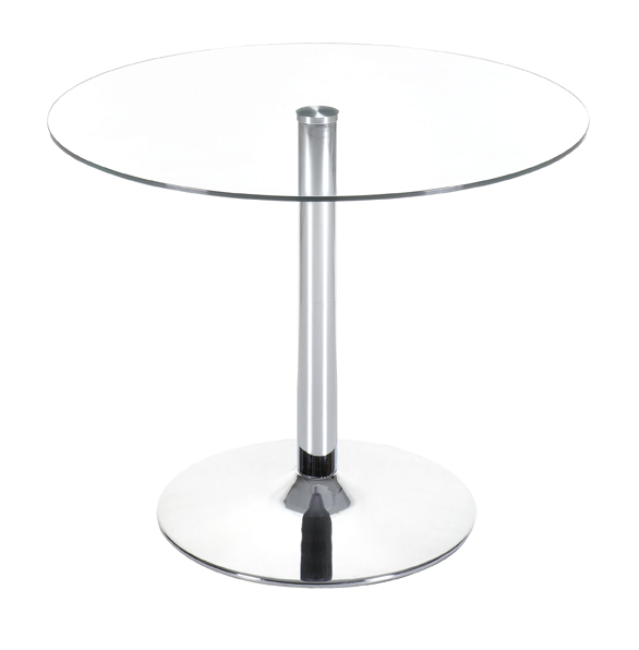 Zuo 102151 Galaxy Collection Dining Table with Clear Tempered Glass Top