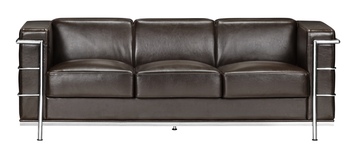 Zuo 900232 Fortress Collection Leather Sofa - Espresso