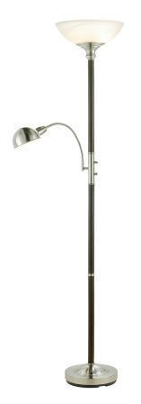 Adesso 4052 Lexington Combo Floor Lamp - Walnut-15