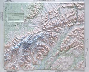 Hubbard Scientific Raised Relief Map 401 Denali National Park