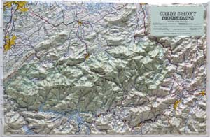 Hubbard Scientific Raised Relief Map 403 Great Smoky Mtn National Park
