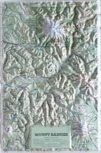 Hubbard Scientific Raised Relief Map 408 Mt. Rainier National Park