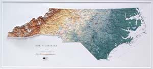 Hubbard Scientific Raised Relief Map 956 North Carolina State Map