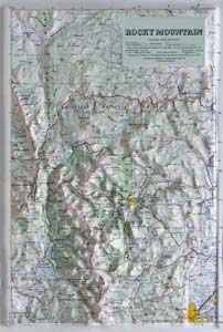 Hubbard Scientific Raised Relief Map 404 Rocky Mountain National Park