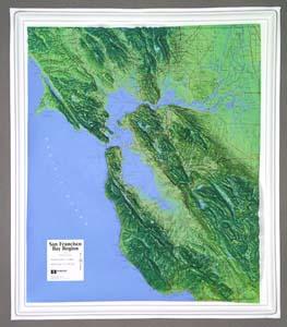 Hubbard Scientific Raised Relief Map K-SF2225 San Francisco Bay