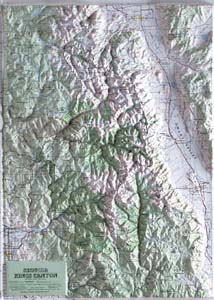 Hubbard Scientific Raised Relief Map 418 Sequoia-Kings Canyon National Park