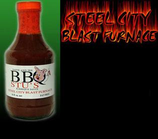 BBQ Stu s 57844-10002 20 oz. Steel City Blast Furnace Barbecue Sauce - 6 Pack
