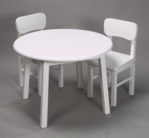 Giftmark 1407W Childrens Round Table & Chair Set White