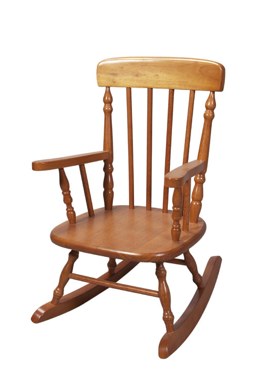Giftmark 1410H Child's Spindle Rocking Chair Honey