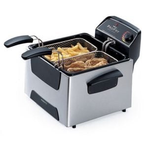 Presto 05466 ProFry Stainless-Steel Dual-Basket Immersion-Element 12-Cup Deep Fryer at Sears.com