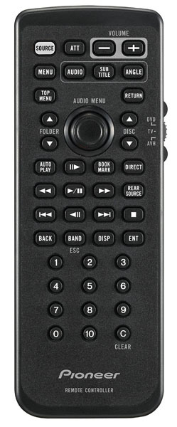 Pioneer Car CD-R55 Car Remote for D3 and AVH-P4900DVD