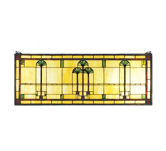 Meyda Tiffany 50825 35 Inch W X 13 Inch H Gingko Window Custom
