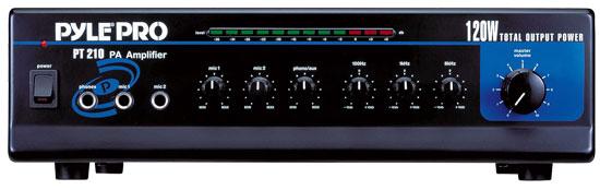 SOUND AROUND/PYLE INDUSTRIES PT210 120 WATT MICROPHONE PA AMPLIFIER