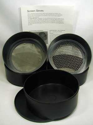Hubbard Scientific 3070-4 Screen Sieves Kit  Set of 4