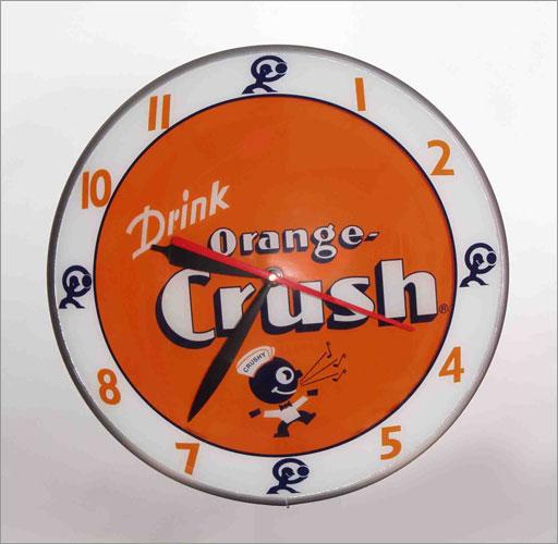 American-Retro AR-8009 Double Bubble Orange Crush Clock