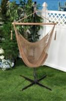 Bliss Hammocks BHC-412BR Bliss Tahiti Cotton Hammock Chair: Brown Rope