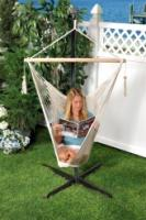 Bliss Hammocks BHC-412NT Bliss Tahiti Cotton Rope Hammock Chair: Natural