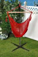 Bliss Hammocks BHC-412R Bliss Tahiti Cotton Rope Hammock Chair: Red