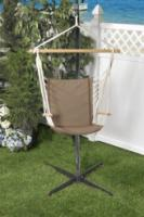 Bliss Hammocks BHC-414BR Metro Hammock Chair with Armrests - Brown