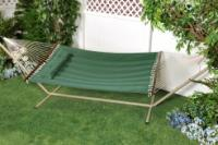 Bliss Hammocks BQH-471 Comfort Classic Poly Quilted Hammock With S Stitch Comfort Quilt - Green