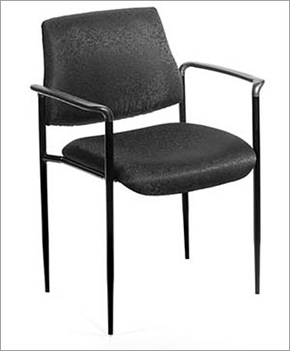 Boss B9503-CS Stackable Chair with Tapered Legs -Black Caressoft