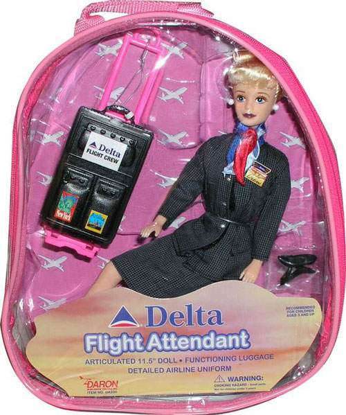 Daron Worldwide Trading  DA200 Delta Flight Attendant Doll DARON1287