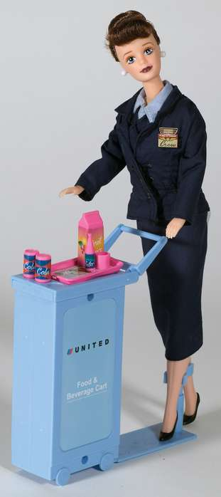 Daron Worldwide Trading  DA700 United Airlines Flight Attendant Doll DARON1300