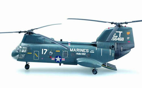 Daron Worldwide Trading EM37002 Easymodel CH46F Usmc Flying Tigers 1/72