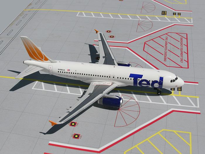 Daron Worldwide Trading  G2UAL007 GEMINI200 Ted A320 1/200