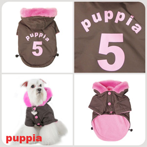 Ski Apparel - Puppia PUM03BRMD Apparel - Ski Jumper Brown Medium