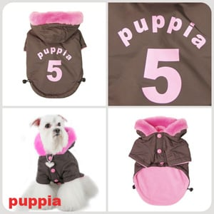 Ski Apparel - Puppia PUM03BRSM Apparel - Ski Jumper Brown Small