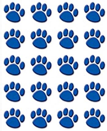 TCR5747 Blue Paw Prints Stickers  - 120 Stickers