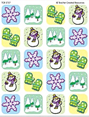 Teacher Created Resources TCR5757 Winter Season Stickers - 120 Stickers