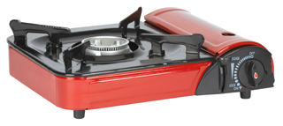 Stansport 186 Portable Outdoor Butane Stove with Case  Red