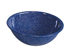 Stansport 10905 Enamel Bowl  7 Inch  Speckled Blued